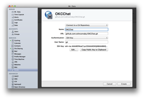 Configuring a repository in Xcode CI
